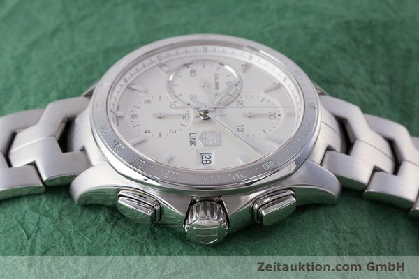 Used luxury watch Tag Heuer Link chronograph steel automatic Kal. 16 ETA 7750 Ref. CAT2011  | 160637 05