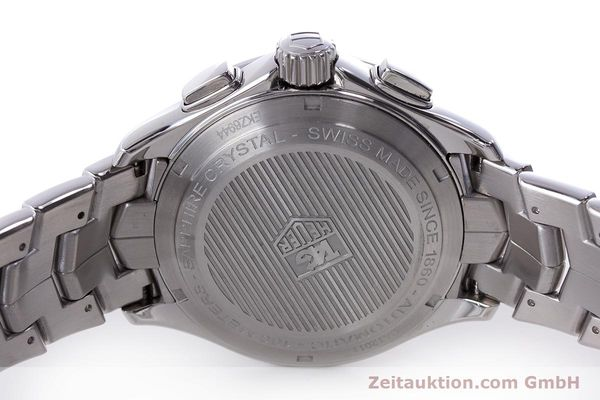 Used luxury watch Tag Heuer Link chronograph steel automatic Kal. 16 ETA 7750 Ref. CAT2011  | 160637 09