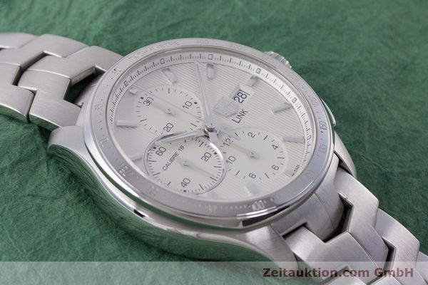 Used luxury watch Tag Heuer Link chronograph steel automatic Kal. 16 ETA 7750 Ref. CAT2011  | 160637 16