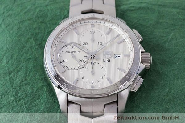 Used luxury watch Tag Heuer Link chronograph steel automatic Kal. 16 ETA 7750 Ref. CAT2011  | 160637 17