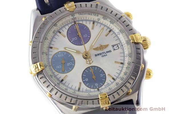 Used luxury watch Breitling Chronomat chronograph steel / gold automatic Kal. B13 ETA 7750 Ref. B13050.1  | 160641 02