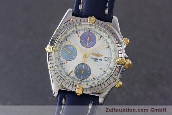 Used luxury watch Breitling Chronomat chronograph steel / gold automatic Kal. B13 ETA 7750 Ref. B13050.1  | 160641 04