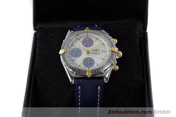 Used luxury watch Breitling Chronomat chronograph steel / gold automatic Kal. B13 ETA 7750 Ref. B13050.1  | 160641 07