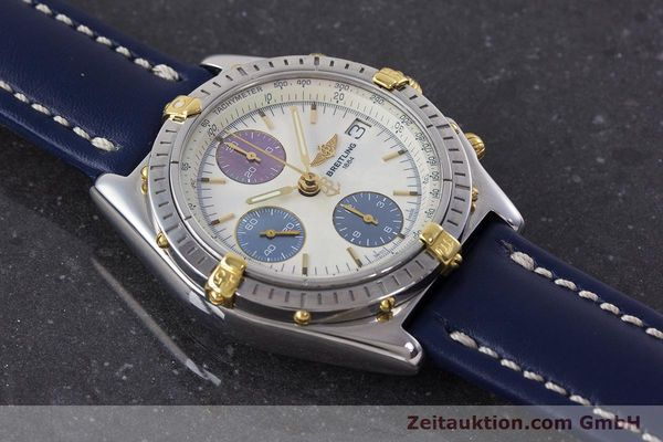 Used luxury watch Breitling Chronomat chronograph steel / gold automatic Kal. B13 ETA 7750 Ref. B13050.1  | 160641 14
