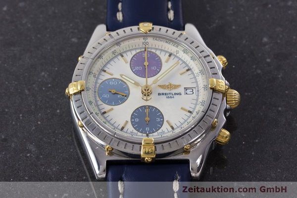 Used luxury watch Breitling Chronomat chronograph steel / gold automatic Kal. B13 ETA 7750 Ref. B13050.1  | 160641 15