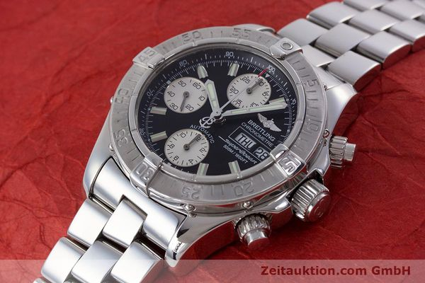 Used luxury watch Breitling Superocean Chronograph chronograph steel automatic Kal. B13 ETA 7750 Ref. A13340  | 160644 01