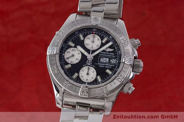Used luxury watch Breitling Superocean Chronograph chronograph steel automatic Kal. B13 ETA 7750 Ref. A13340  | 160644 04