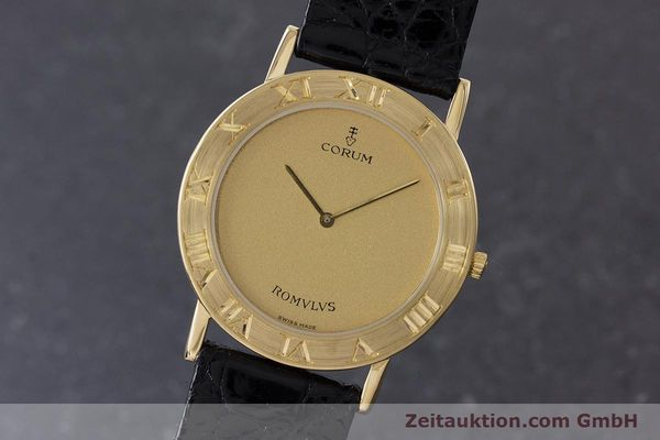 Used luxury watch Corum Romulus 18 ct gold quartz Kal. ETA 210.001 Ref. 50.501.56  | 160650 04