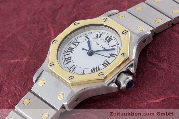 Used luxury watch Cartier Santos steel / gold automatic Kal. ETA 2670  | 160653 01