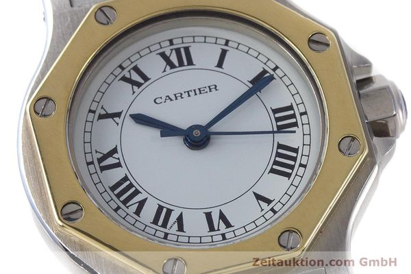 Used luxury watch Cartier Santos steel / gold automatic Kal. ETA 2670  | 160653 02