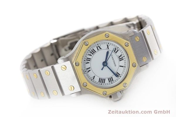 Used luxury watch Cartier Santos steel / gold automatic Kal. ETA 2670  | 160653 03