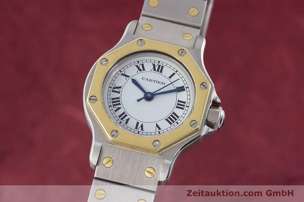 Used luxury watch Cartier Santos steel / gold automatic Kal. ETA 2670  | 160653 04