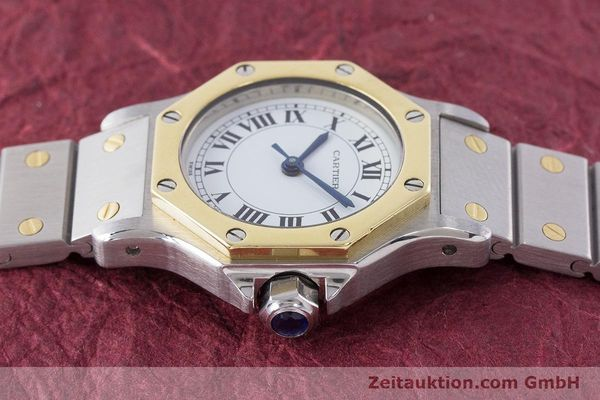Used luxury watch Cartier Santos steel / gold automatic Kal. ETA 2670  | 160653 05