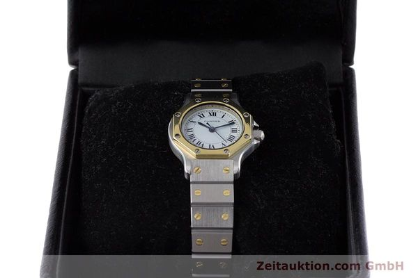 Used luxury watch Cartier Santos steel / gold automatic Kal. ETA 2670  | 160653 07