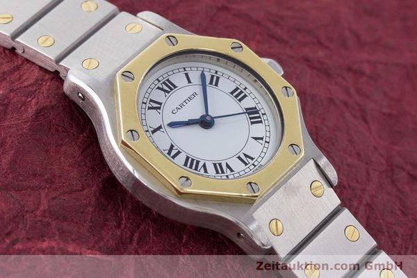 Used luxury watch Cartier Santos steel / gold automatic Kal. ETA 2670  | 160653 12