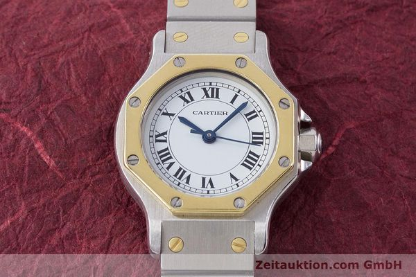 Used luxury watch Cartier Santos steel / gold automatic Kal. ETA 2670  | 160653 13