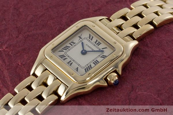 Used luxury watch Cartier Panthere 18 ct gold quartz Kal. 057  | 160662 01