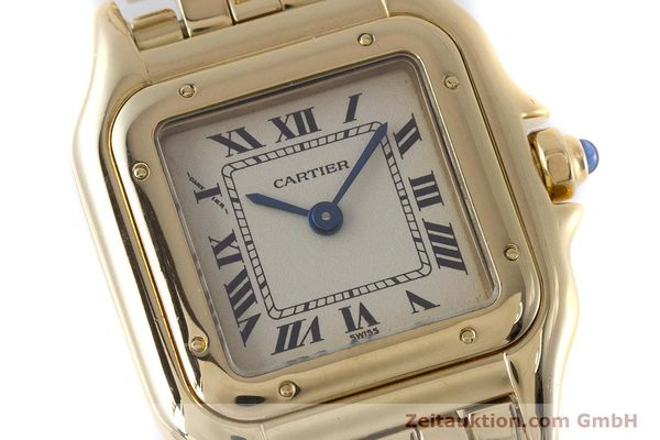 Used luxury watch Cartier Panthere 18 ct gold quartz Kal. 057  | 160662 02