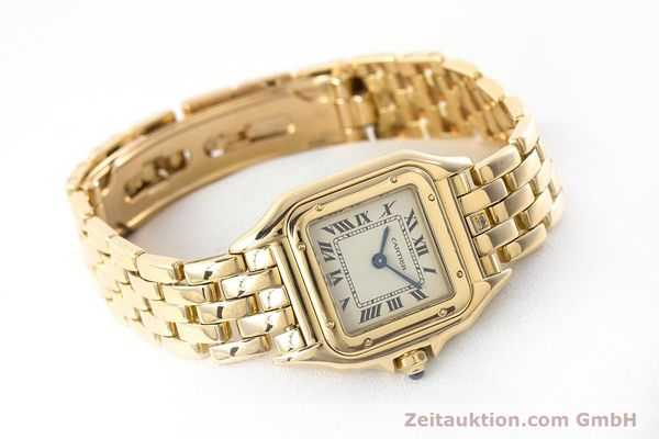 Used luxury watch Cartier Panthere 18 ct gold quartz Kal. 057  | 160662 03