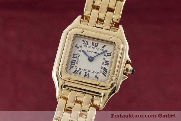 Used luxury watch Cartier Panthere 18 ct gold quartz Kal. 057  | 160662 04