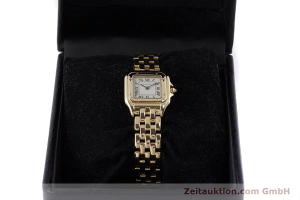 Used luxury watch Cartier Panthere 18 ct gold quartz Kal. 057  | 160662 07