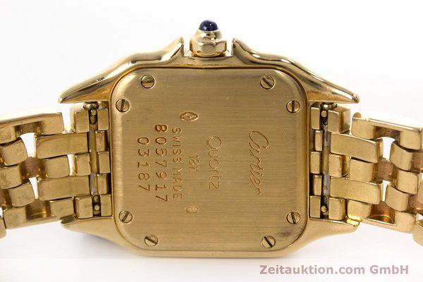 Used luxury watch Cartier Panthere 18 ct gold quartz Kal. 057  | 160662 09