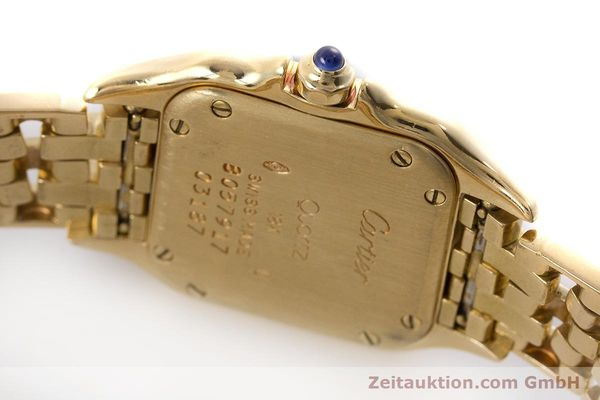 Used luxury watch Cartier Panthere 18 ct gold quartz Kal. 057  | 160662 10