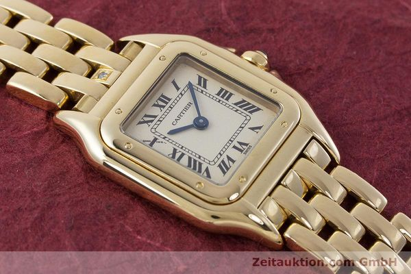 Used luxury watch Cartier Panthere 18 ct gold quartz Kal. 057  | 160662 15