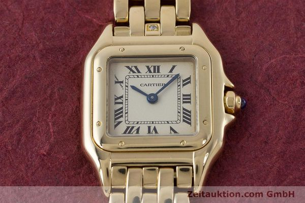 Used luxury watch Cartier Panthere 18 ct gold quartz Kal. 057  | 160662 16