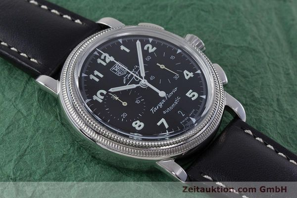 Used luxury watch Tag Heuer Targa Florio chronograph steel automatic Kal. 17 ETA 2894-2 Ref. CX2113 LIMITED EDITION | 160665 14