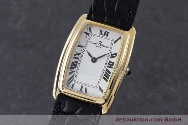 BAUME & MERCIER 18K (0,750) GOLD HERRENUHR MEDIUM HANDAUFZUG VP: 6300,- EURO [160668]