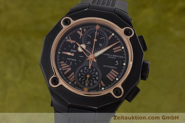 Used luxury watch Baume & Mercier Riviera chronograph steel / gold automatic Kal. BM13750 ETA 7750 Ref. 65606  | 160669 04