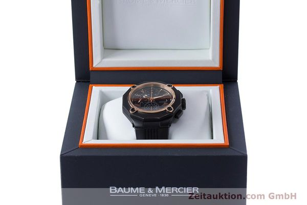 Used luxury watch Baume & Mercier Riviera chronograph steel / gold automatic Kal. BM13750 ETA 7750 Ref. 65606  | 160669 07