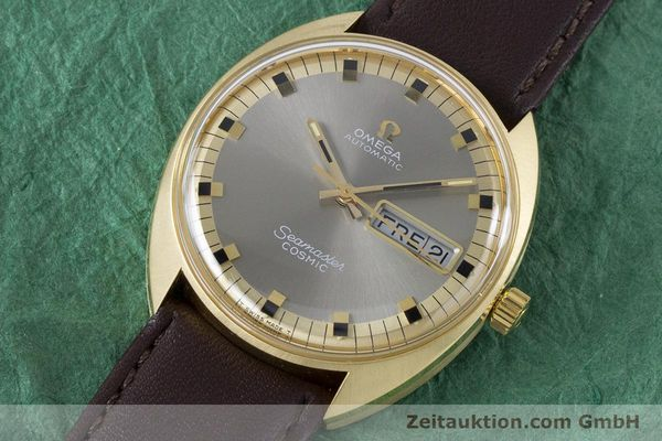 Used luxury watch Omega Seamaster 18 ct gold automatic Kal. 752 Ref. 186.049 VINTAGE  | 160670 01