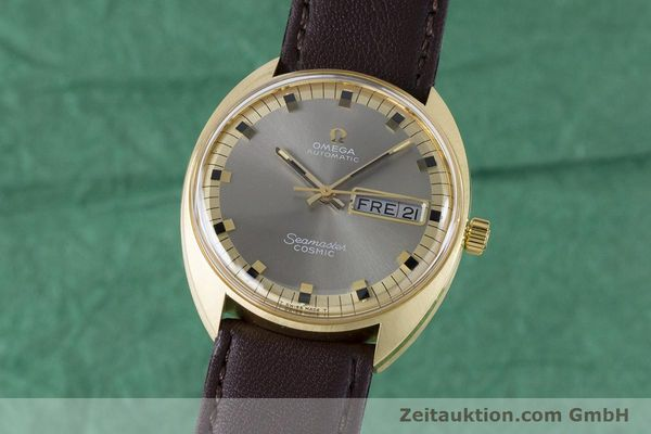 Used luxury watch Omega Seamaster 18 ct gold automatic Kal. 752 Ref. 186.049 VINTAGE  | 160670 04