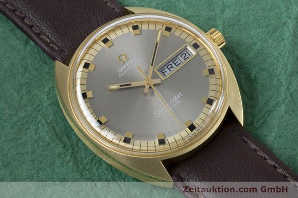 Used luxury watch Omega Seamaster 18 ct gold automatic Kal. 752 Ref. 186.049 VINTAGE  | 160670 12