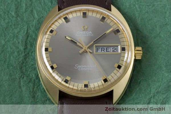 Used luxury watch Omega Seamaster 18 ct gold automatic Kal. 752 Ref. 186.049 VINTAGE  | 160670 13
