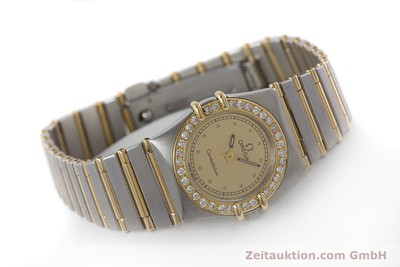 OMEGA LADY CONSTELLATION DIAMANTEN GOLD / STAHL DAMENUHR VP: 5900,- EURO [160671]