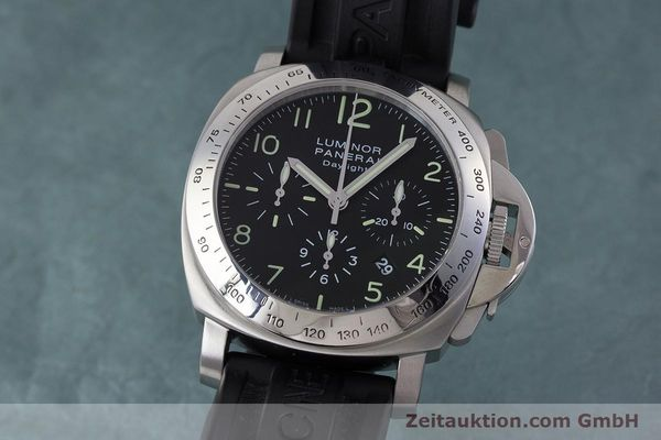 PANERAI LUMINOR CHRONO DAYLIGHT CHRONOGRAPH STEEL AUTOMATIC KAL. ETA 7753 LP: 7400EUR [160682]