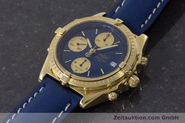 Used luxury watch Breitling Chronomat chronograph 18 ct gold automatic Kal. B13 ETA 7750 Ref. 81950K13047  | 160702 01