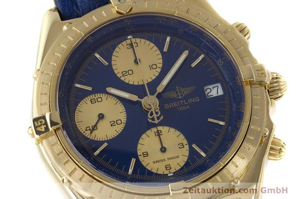 Used luxury watch Breitling Chronomat chronograph 18 ct gold automatic Kal. B13 ETA 7750 Ref. 81950K13047  | 160702 02