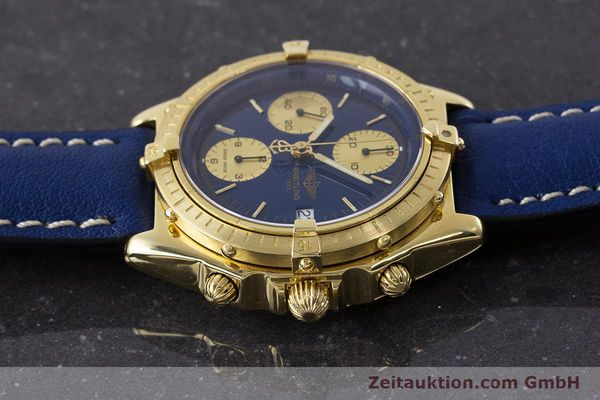 Used luxury watch Breitling Chronomat chronograph 18 ct gold automatic Kal. B13 ETA 7750 Ref. 81950K13047  | 160702 05