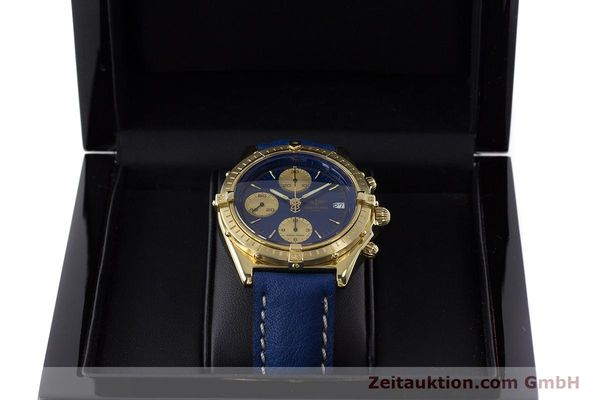 Used luxury watch Breitling Chronomat chronograph 18 ct gold automatic Kal. B13 ETA 7750 Ref. 81950K13047  | 160702 07