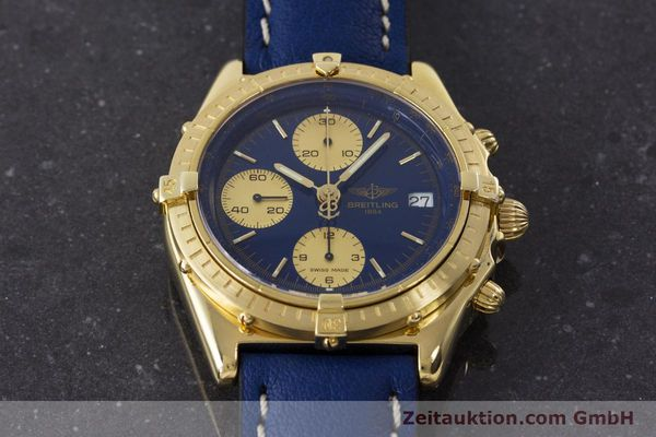Used luxury watch Breitling Chronomat chronograph 18 ct gold automatic Kal. B13 ETA 7750 Ref. 81950K13047  | 160702 14