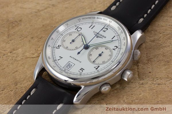Used luxury watch Longines * chronograph steel automatic Kal. L651.2 Ref. L2.612.4 LIMITED EDITION | 160704 01