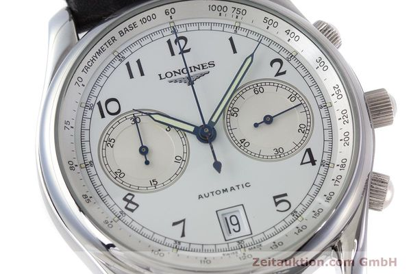 Used luxury watch Longines * chronograph steel automatic Kal. L651.2 Ref. L2.612.4 LIMITED EDITION | 160704 02