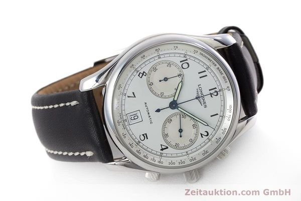 Used luxury watch Longines * chronograph steel automatic Kal. L651.2 Ref. L2.612.4 LIMITED EDITION | 160704 03