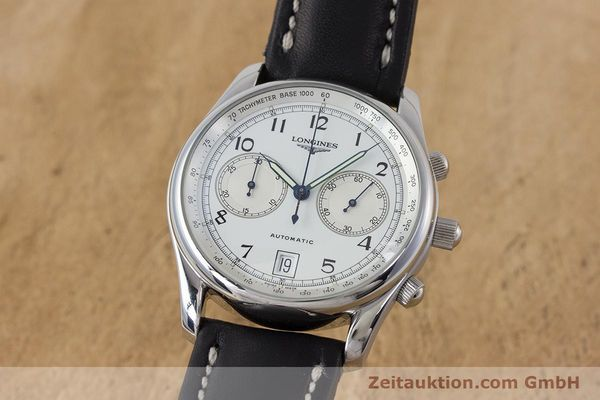 Used luxury watch Longines * chronograph steel automatic Kal. L651.2 Ref. L2.612.4 LIMITED EDITION | 160704 04