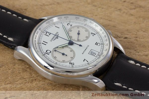 Used luxury watch Longines * chronograph steel automatic Kal. L651.2 Ref. L2.612.4 LIMITED EDITION | 160704 12