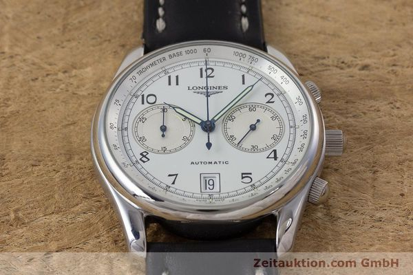 Used luxury watch Longines * chronograph steel automatic Kal. L651.2 Ref. L2.612.4 LIMITED EDITION | 160704 13
